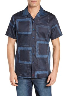 Robert Graham Mori Classic Fit Patchwork Sport Shirt