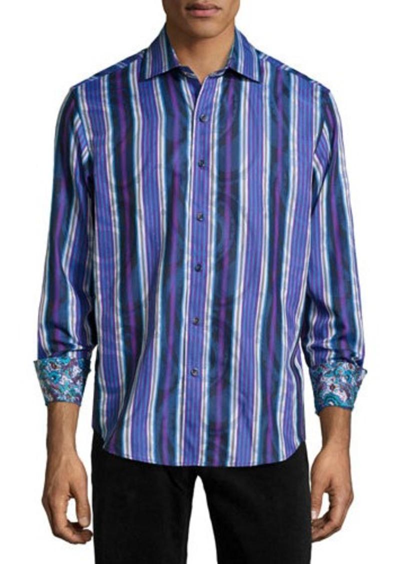 Robert graham robert graham mott paisley stripe sport for Robert graham sport shirt