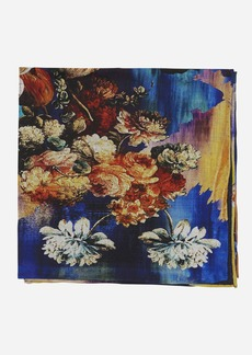 Robert Graham Multi Floral Silk Pocket Square