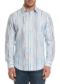 Robert Graham Murals Striped Sport Shirt