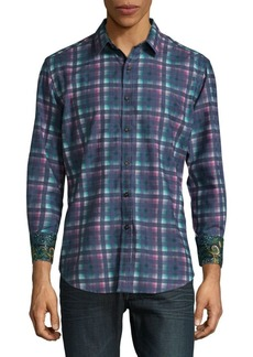 Robert Graham Neerav Cotton Button-Down Shirt