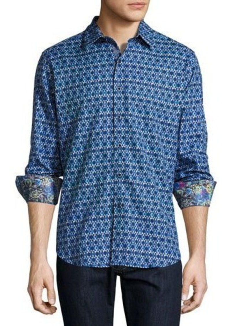 Robert graham robert graham octavian geo print sport shirt for Robert graham sport shirt