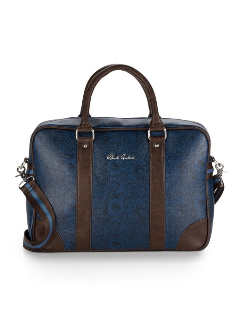 Robert Graham Paisley Faux Leather Briefcase