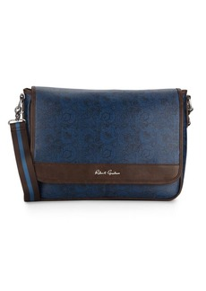 Robert Graham Paisley-Print Faux Leather Messenger Bag