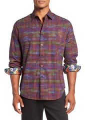 Robert Graham Palazzo Spada Regular Fit Houndstooth Sport Shirt
