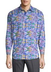 Robert Graham Phaeton Cotton Casual Button-Down Shirt