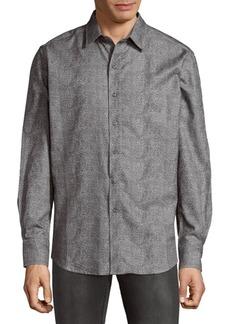 Robert Graham Philpot Cotton Button-Down Shirt