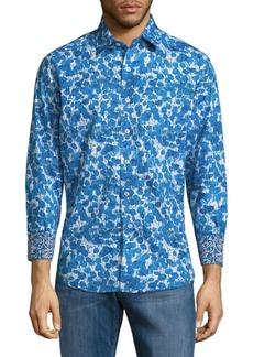 Robert Graham Printed Cotton Button-Down Shirt