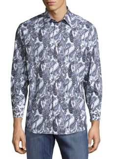 Robert Graham Printed Cotton Casual Button-Down Shirt