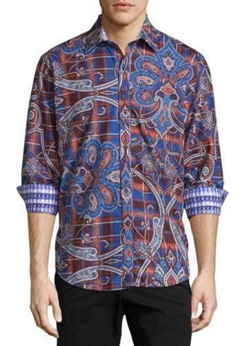 Robert Graham Queen's Guard Printed Long-Sleeve Shirt