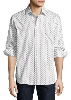 R by Robert Graham Scooter-Print Long-Sleeve Sport Shirt
