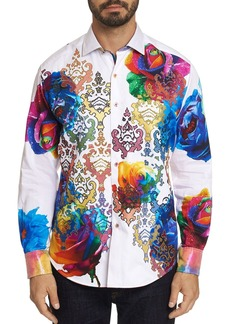 Robert Graham Rainbow Floral & Tile-Print Classic Fit Shirt