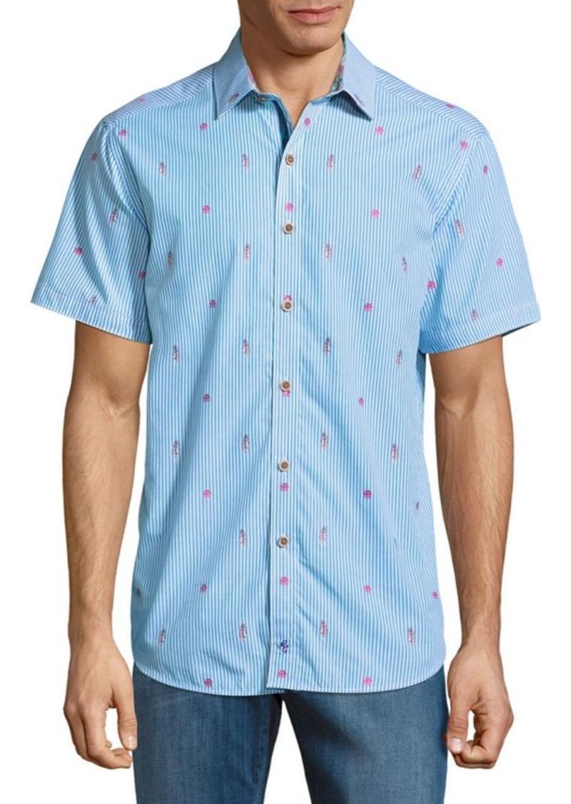 Robert Graham Randle Cotton Button-Down Shirt