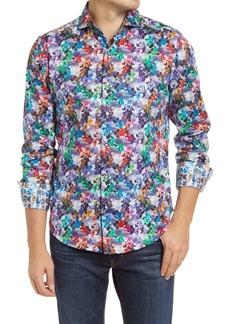 Robert Graham Regular Fit Floral Stretch Cotton Shirt