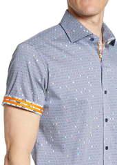 Robert Graham Tailored Fit Hexagon Print Sport Shirt