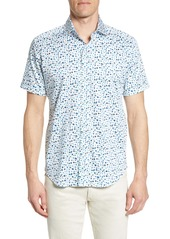 Robert Graham Tailored Fit Mini Floral Bug Sport Shirt
