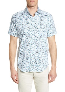 Robert Graham Tailored Fit Mini Floral Bug Shirt