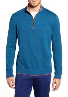 Robert Graham Regular Fit Quarter Zip Pullover
