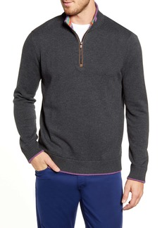 Robert Graham Regular Fit Quarter Zip Pullover