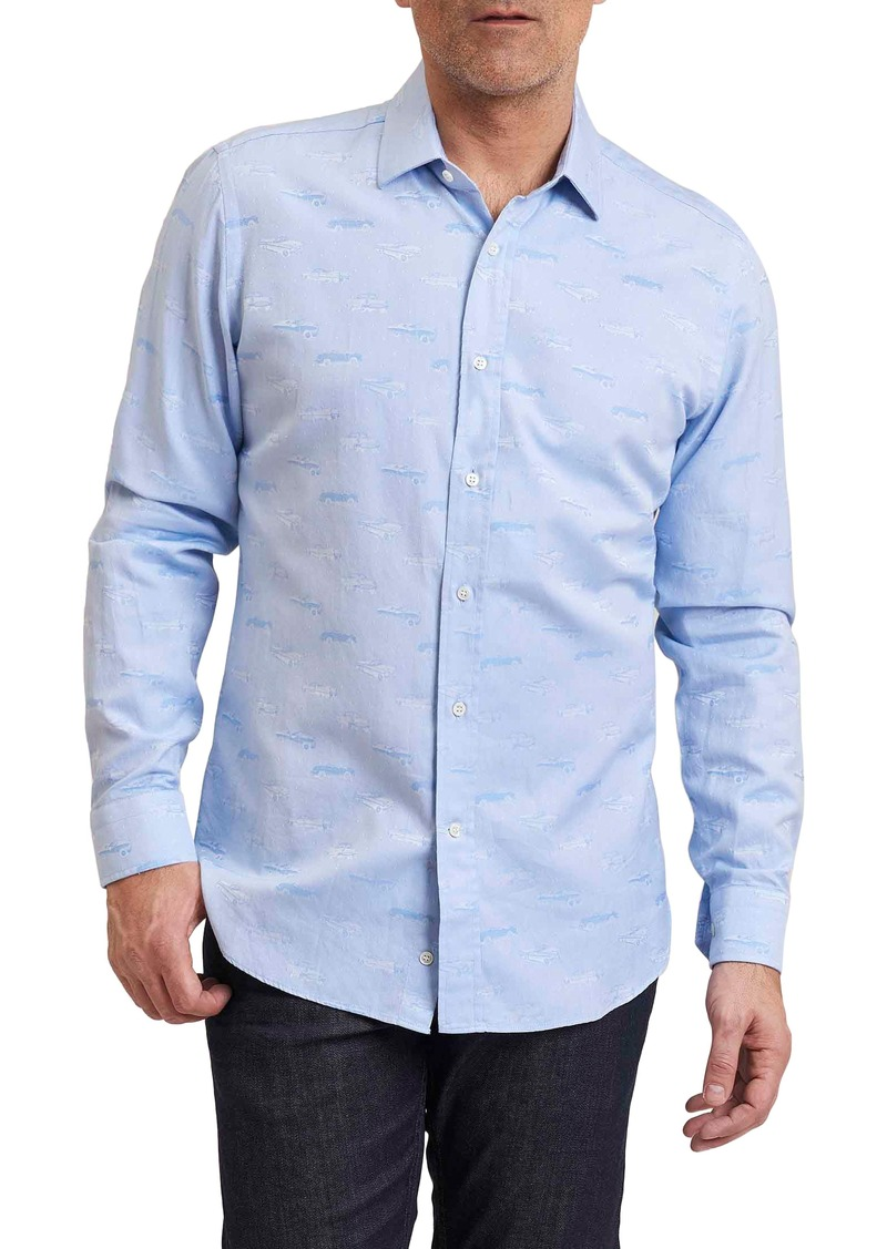 Robert graham robert graham regular fit ragtop jacquard for Robert graham sport shirt