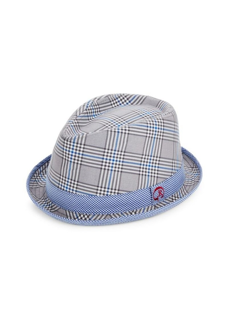 Robert Graham Robert Graham Sagami Bay Check Cotton Fedora Hat ... 01a9618ddb1