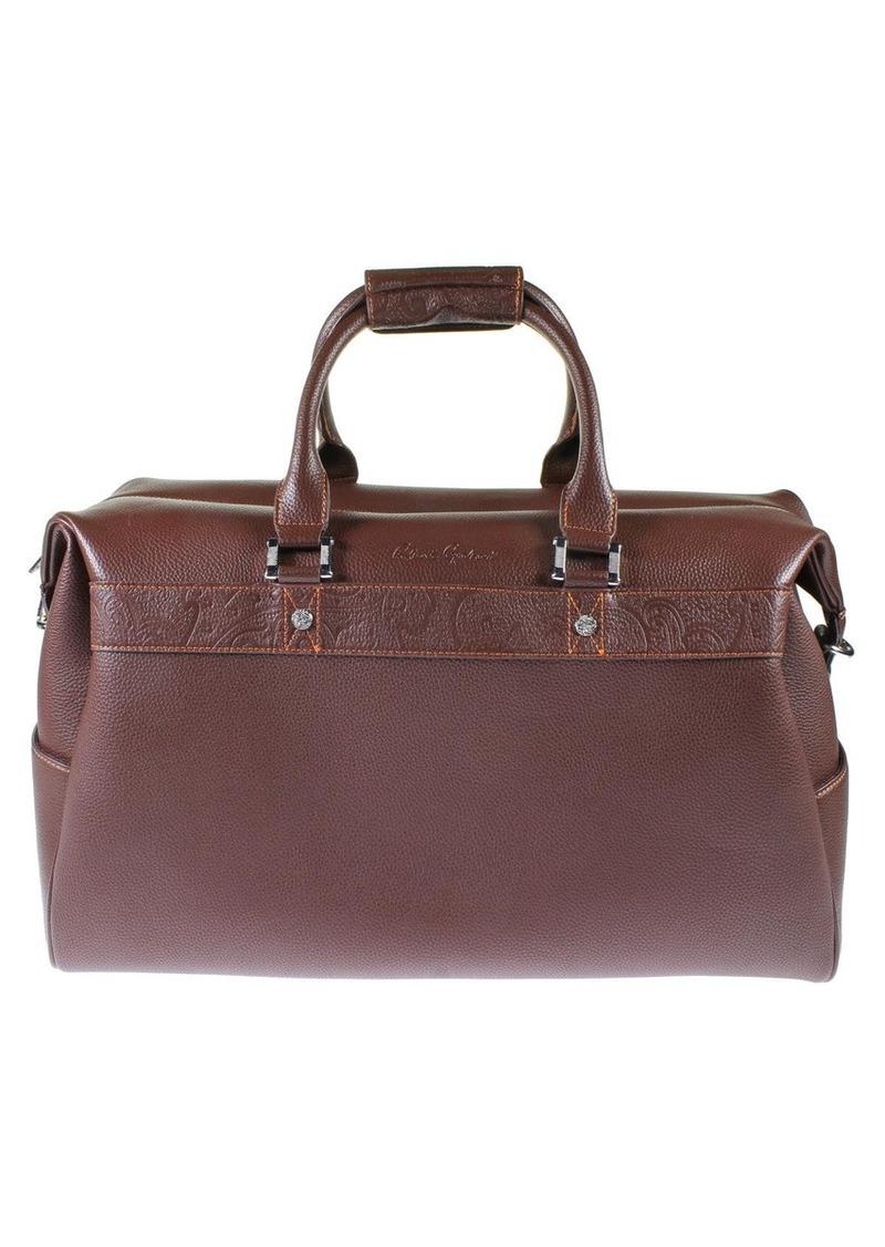 Robert Graham Samson Men's Leather Duffle Travel Bag  Size Extra Large
