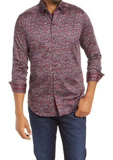 Robert Graham Santana Trim Fit Floral Button-Up Shirt