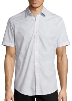 Robert Graham Stars Short-Sleeve Cotton Shirt