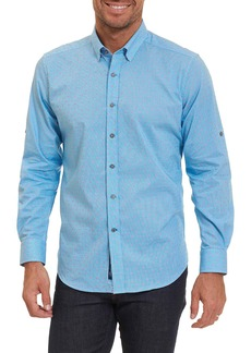 Robert Graham Tailored Fit Houndstooth Sport Shirt