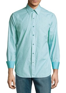 Robert Graham Tailored-Fit Printed Cotton Casual Shirt