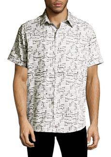 Robert Graham Talking Heads Cotton Casual Button-Down Shirt