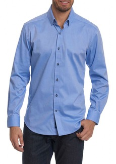 Robert Graham Taner Tailored Fit Dobby Herringbone Sport Shirt