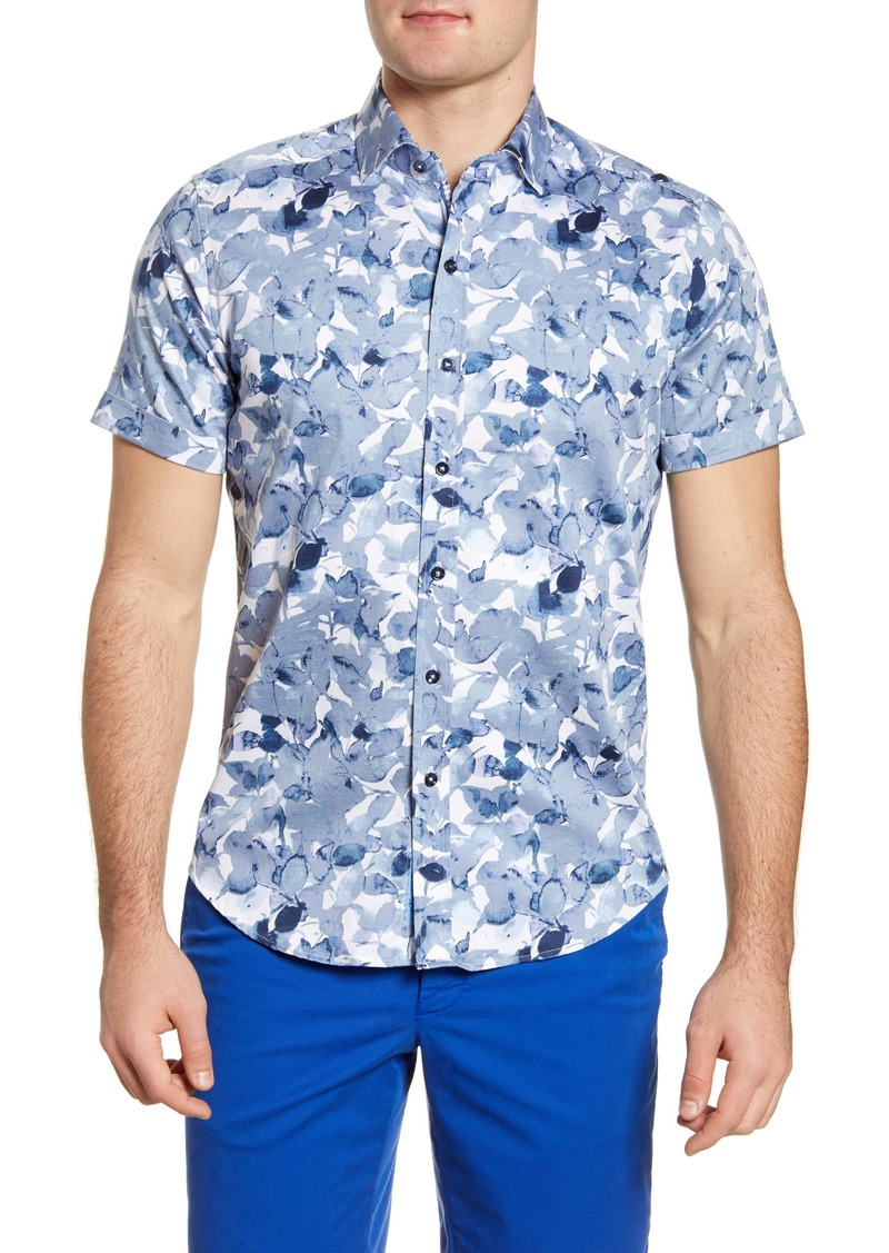 Robert Graham Teasdale Classic Fit Floral Short Sleeve Button-Up Shirt