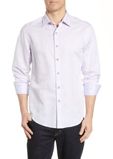 Robert Graham Temple of Skull Classic Fit Linen Blend Sport Shirt