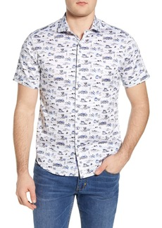 Robert Graham Throttle Regular Fit Short Sleeve Button-Up Shirt