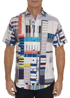 Robert Graham Tofo Short-Sleeve Abstract-Print Classic Fit Shirt