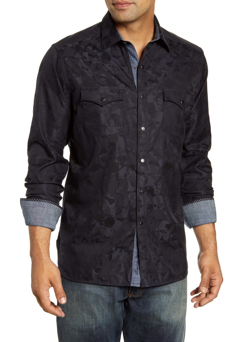 Robert Graham Tombstone Regular Fit Button-Up Sport Shirt