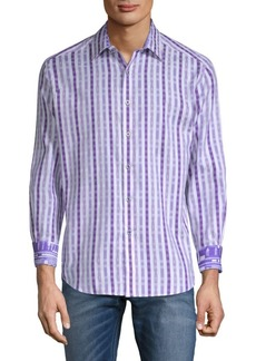 Robert Graham Treton Cotton Button-Down Shirt