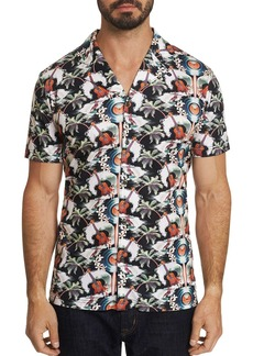 Robert Graham Tropical Ukuleles Camp Printed Short-Sleeve Slim Fit Shirt