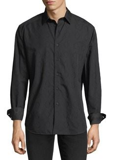 Robert Graham Turnell Large Diamond-Print Sport Shirt