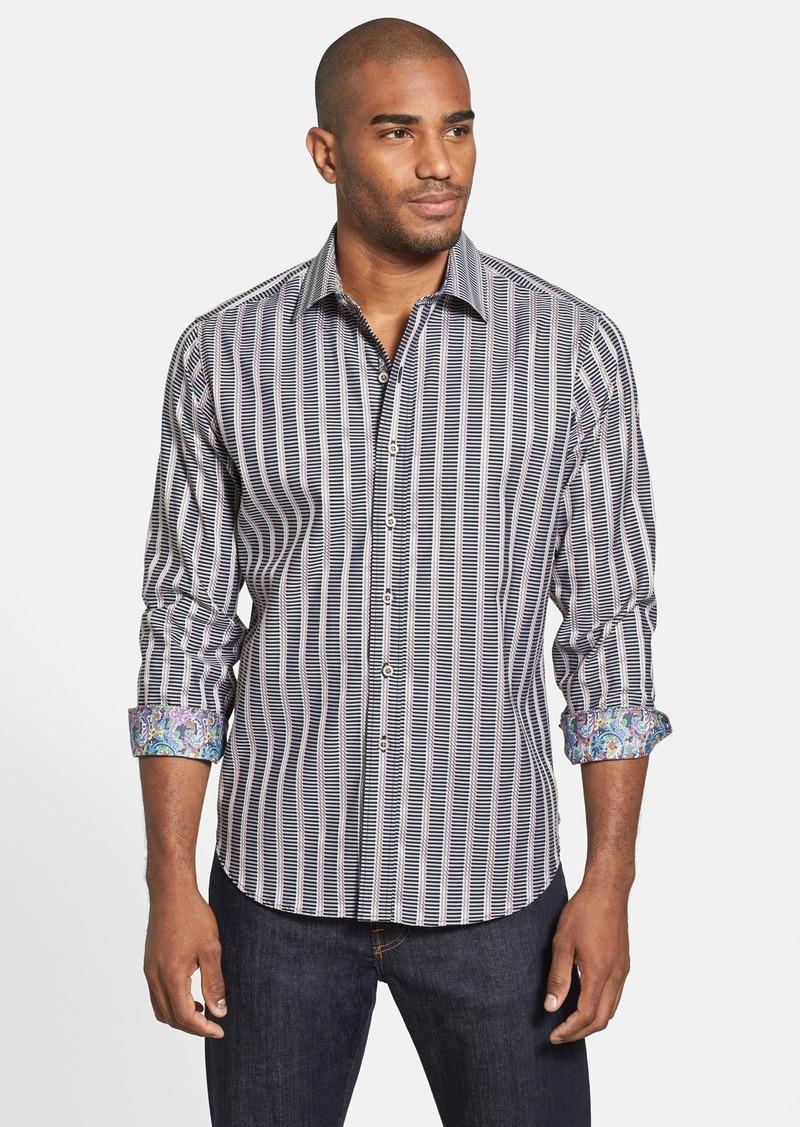 Robert graham robert graham 39 wesley 39 stripe sport shirt for Robert graham sport shirt