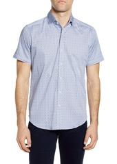 Robert Graham West Geo Print Short Sleeve Button-Up Shirt