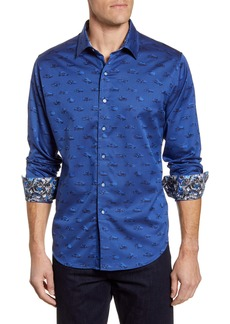 Robert Graham Winners Circle Classic Fit Button-Up Sport Shirt