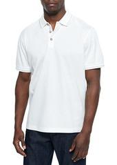 Robert Graham Woven Short-Sleeve Polo Shirt