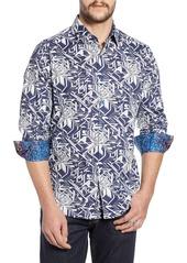 Robert Graham Wyland Classic Fit Print Sport Shirt
