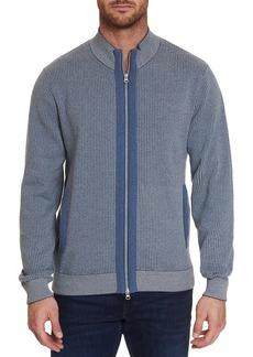 Robert Graham Rodin Colorblock Full-Zip Sweater