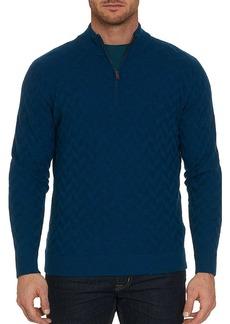 Robert Graham Rowley 1/4 Zip Merino Wool Sweater