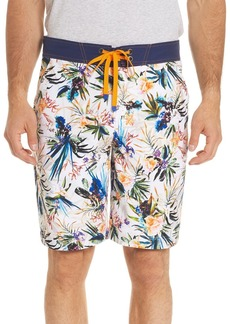 Robert Graham Rumba Floral-Print Swim Trunks