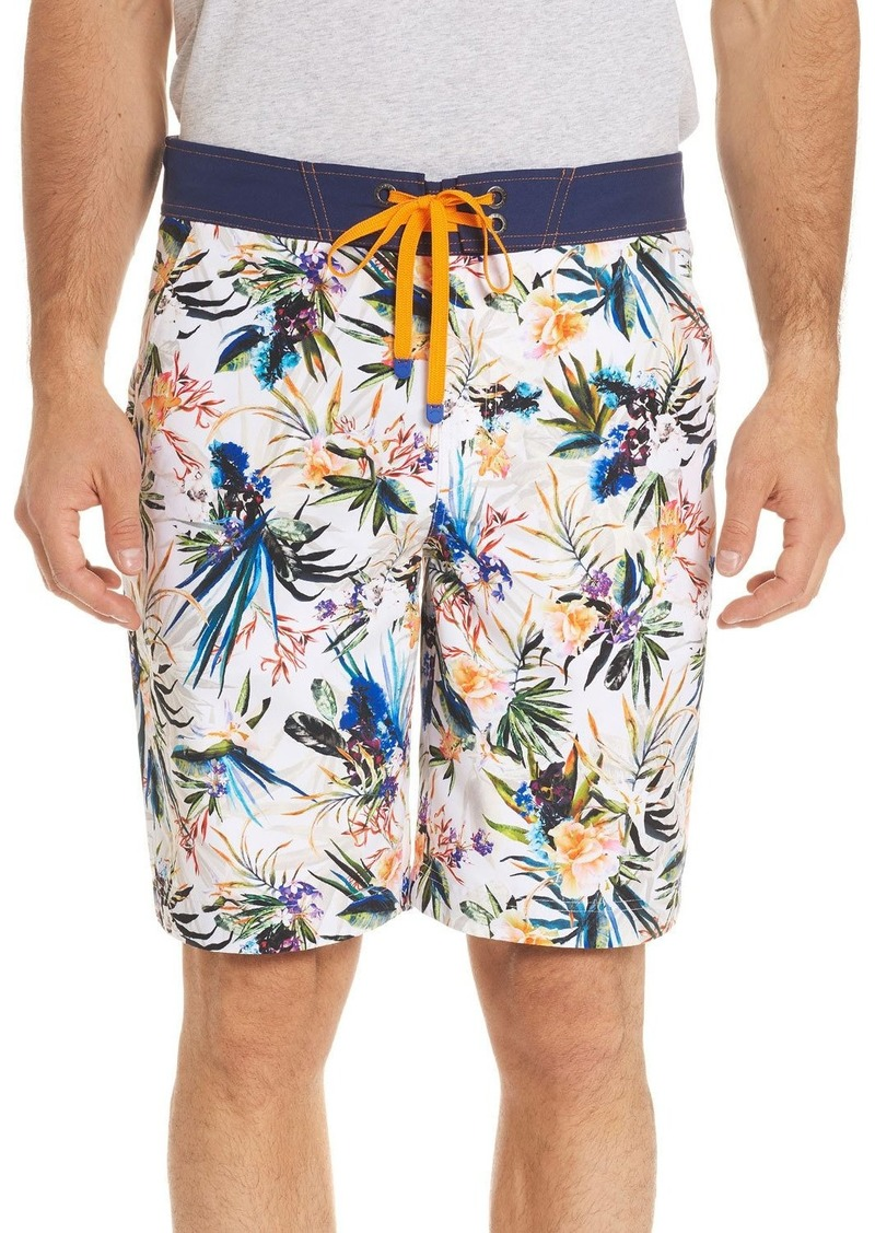 16151bea1f Robert Graham Rumba Floral-Print Swim Trunks | Swimwear