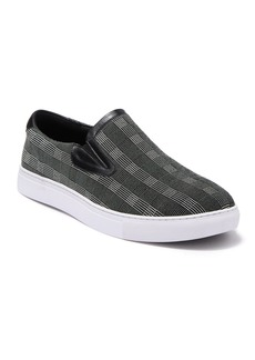 Robert Graham Seldon Printed Leather Slip-On Sneaker